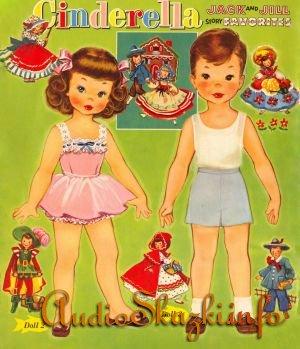 Разное:Бумажные куклы.Jack and Jill story favorites