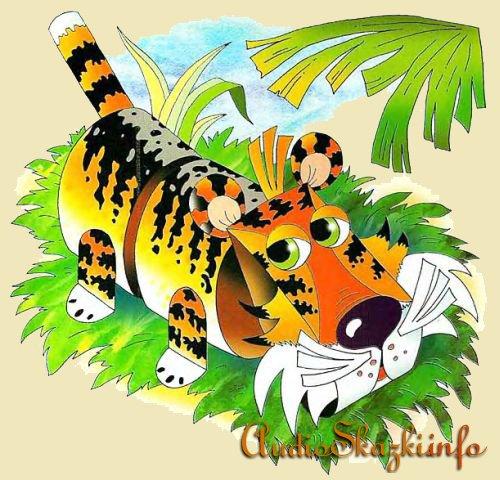 Игрушки из бумаги. Тигр