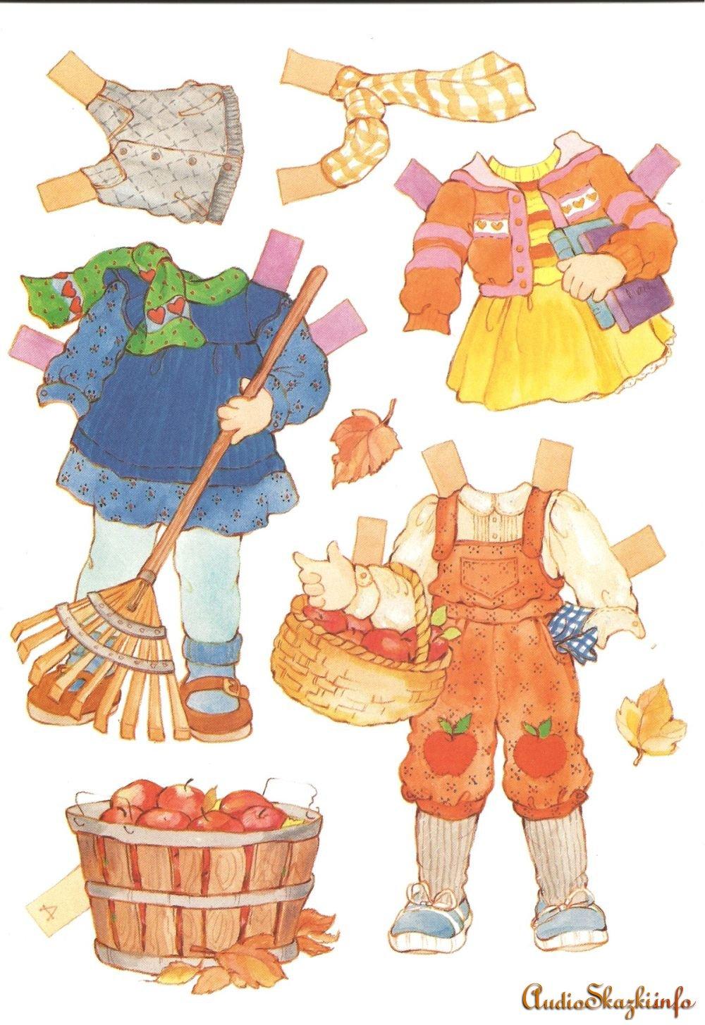 Распечатать куклы бумажные