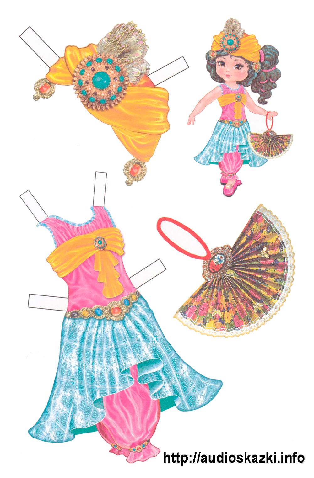 Распечатать бумажные куклы