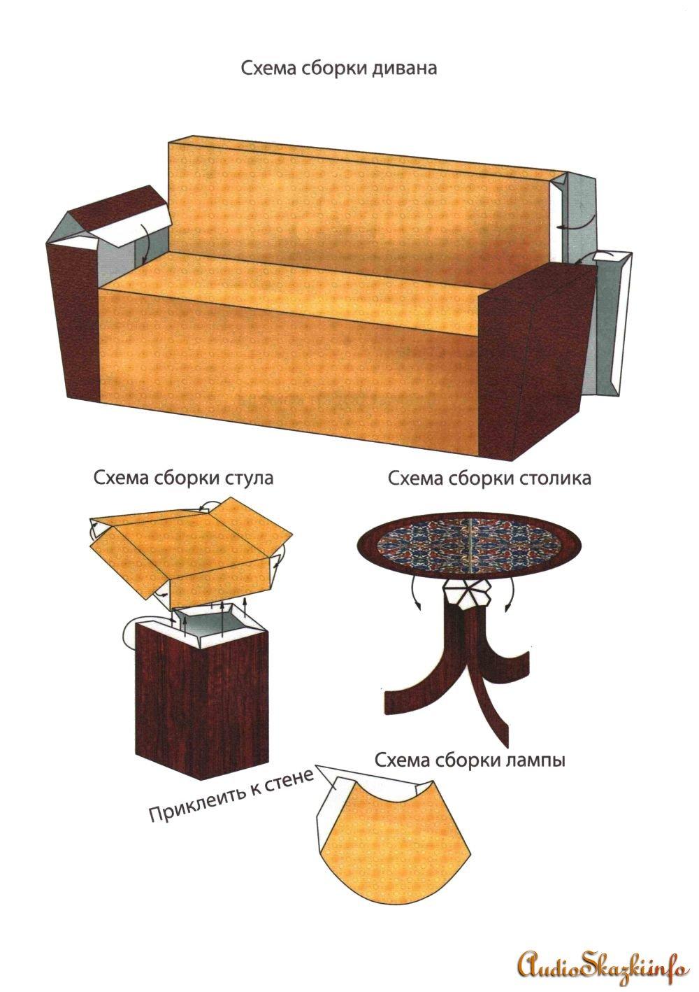 Мебель для бумажных кукол