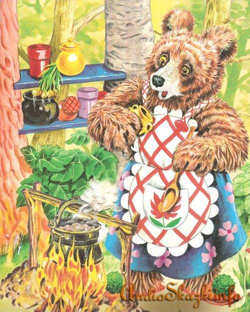 Сказки с картинками Трудолюбивая медведица