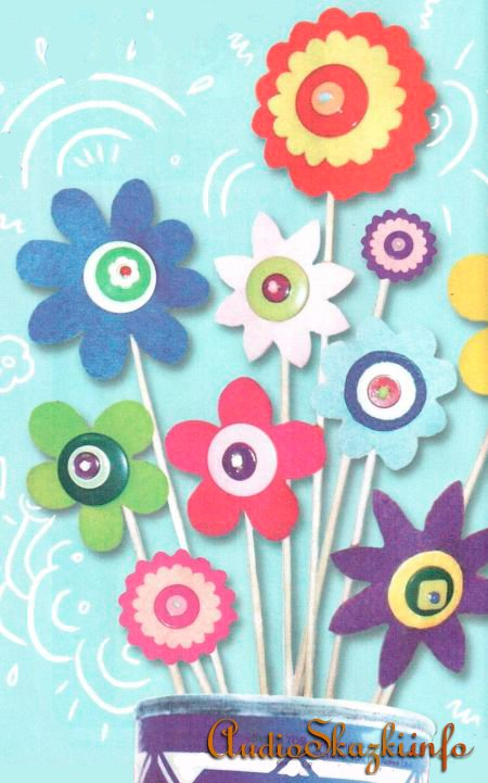 Цветы из фильца