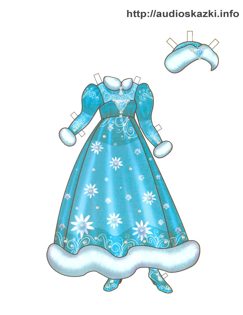 новогодний наряд для бумажной куклы
