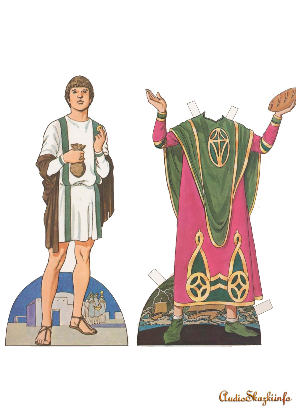 Бумажная кукла святого Николая