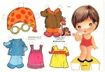 Бумажные куклы - малышки