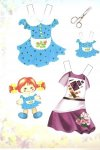 Бумажные куклы. Модница Саша
