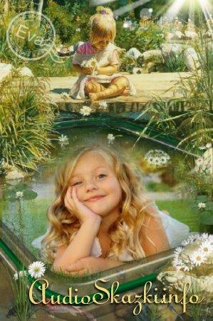 Детская фоторамка - Венок из ромашек