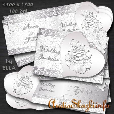 Оригинальные PSD исходники для фотошоп с формой сердца-Приглашение на свадьбу 5