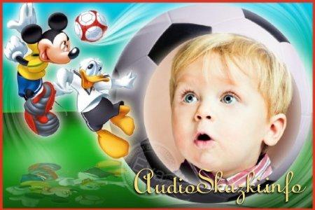 Детская рамочка для фотошопа - Лучшие футболисты