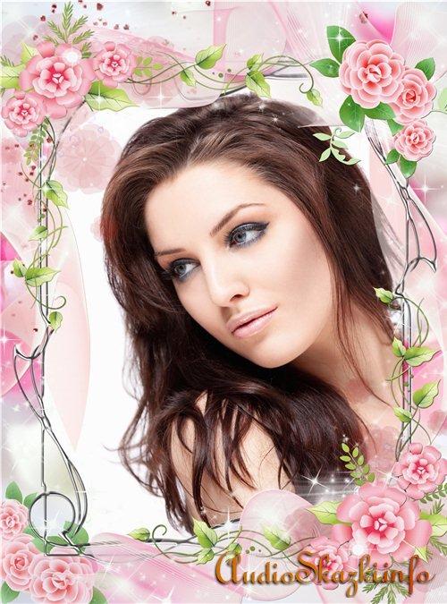 Цветочная фоторамка - Великолепие розы