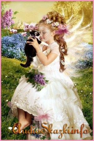 Шаблон для photoshop - Девочка с котенком
