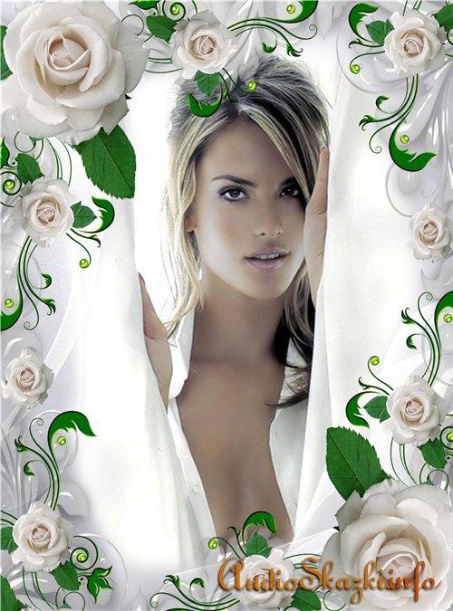Фоторамка - Аромат белой розы