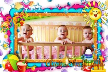 Детская рамочка для photoshop - Мои первые игрушки