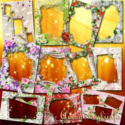 Коллекция цветочных фоторамок для милых дам - Обворожительная нежность