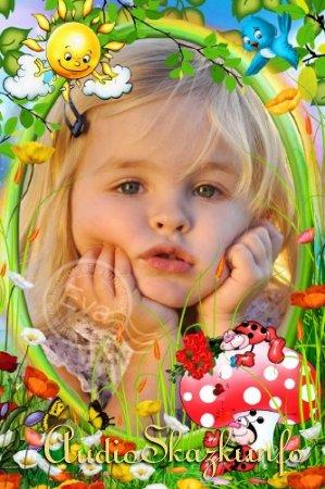Детская рамочка для фото - Божьи коровки