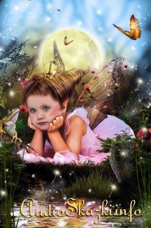 Детский шаблон для фотографий - Лесная феечка