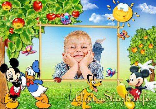 Фоторамка детская - Микки Маус и его друзья