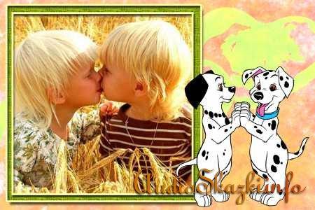 Детские шаблоны для Photoshop 101 далматинец
