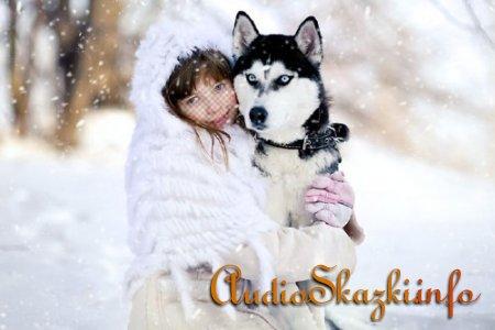 Шаблон для фотомонтажа - Девочка с волком
