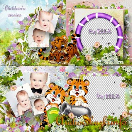 Яркий детский фотоальбом-Милые тигрята