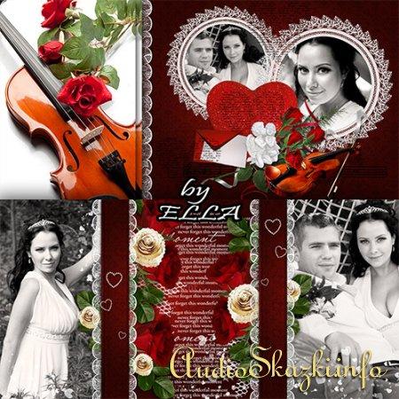 Свадебно-романтическая фотокнига- Любовь,как роза красная