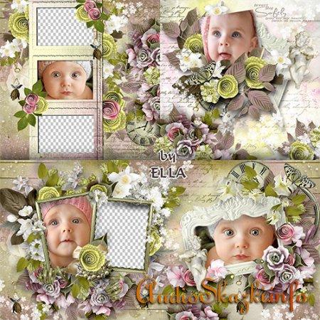 Универсальная фотокнига с цветочным дизайном-Мой Ангел