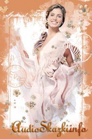 Женский шаблон для фотографий с девушкой в красивом платье - От Валентино