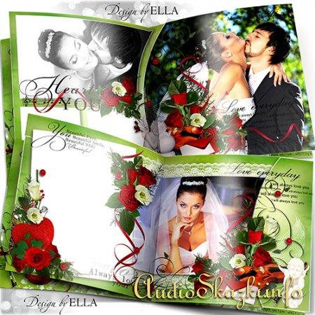 Свадебно-романтический набор-фотокнига,календарь на 2013 год и обложки на диск-Love Story