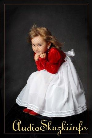 Шаблон для фотошопа - Художественный портрет девочки