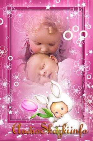 Детская рамочка для photoshop - Мой маленький зайчонок