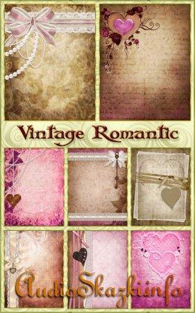 Винтажные романтические фоны