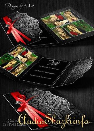 Valentine's Tri Fold Card / Поздравительная карточка ко дню Св.Валентина