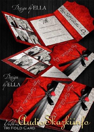 Винтажная романтическая фотокнига в классическом стиле и поздравительная карточка с Днем Св.Валентина