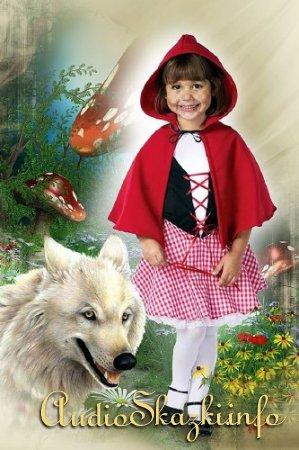 Детский шаблон для фотошопа - Красная шапочка