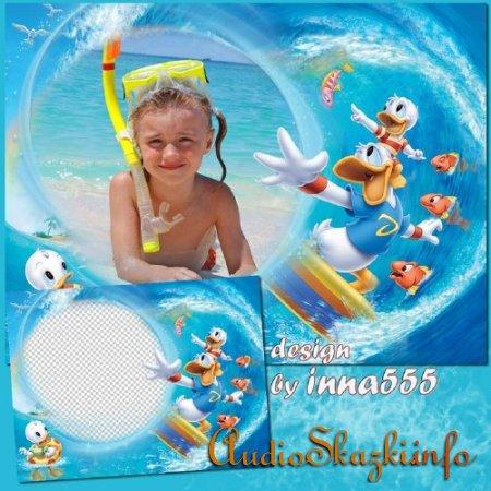 Детская рамка с героями мультфильма Утиные истории - Большая волна