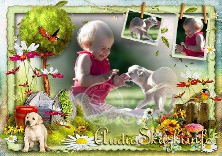 Детская рамка для фото - Наше счастливое детство