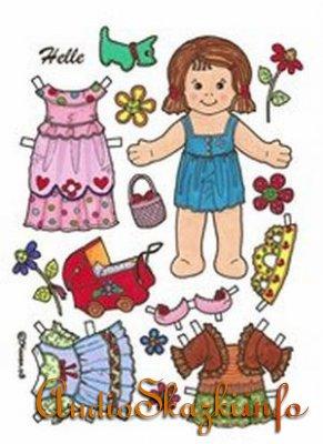 Разное: Одень бумажные игрушки